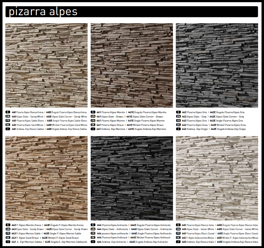 Panel piedra panel stone paneles decorativos para paredes - Piedra de pizarra ...