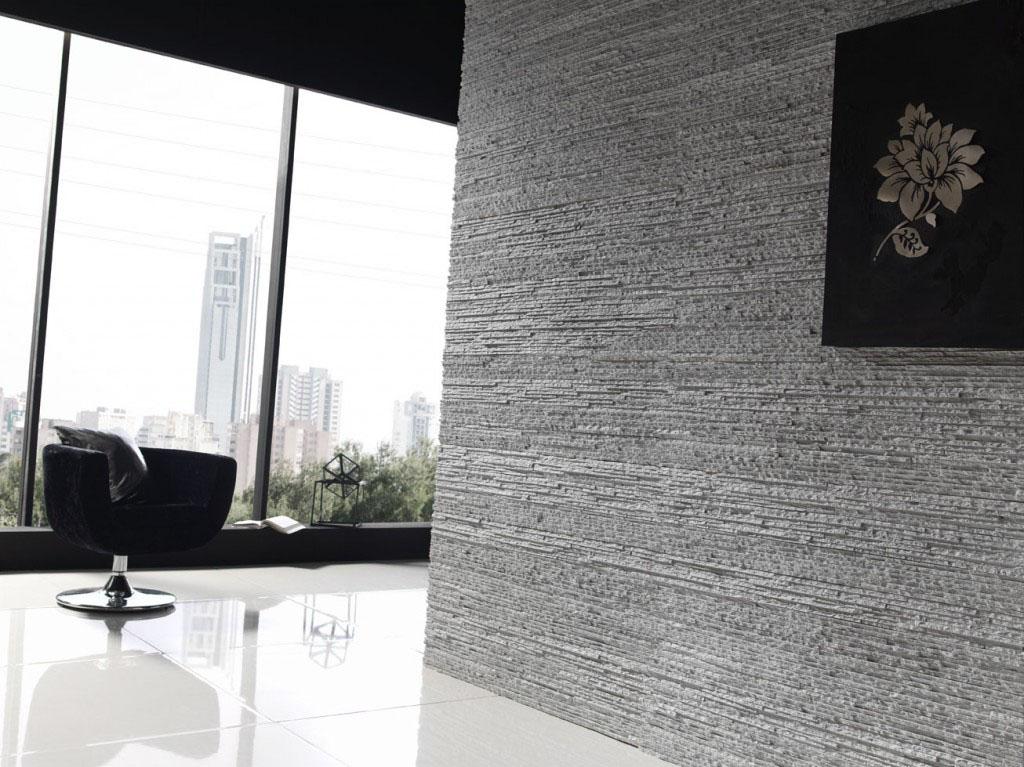 Decoracion mueble sofa plaquetas decorativas poliuretano - Imitacion piedra pared ...