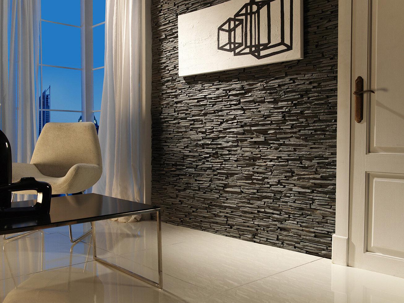 Panel piedra pizarra alepes - Paredes de piedra para interiores ...